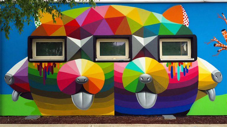 Menő falfestmények az olasz óvodán